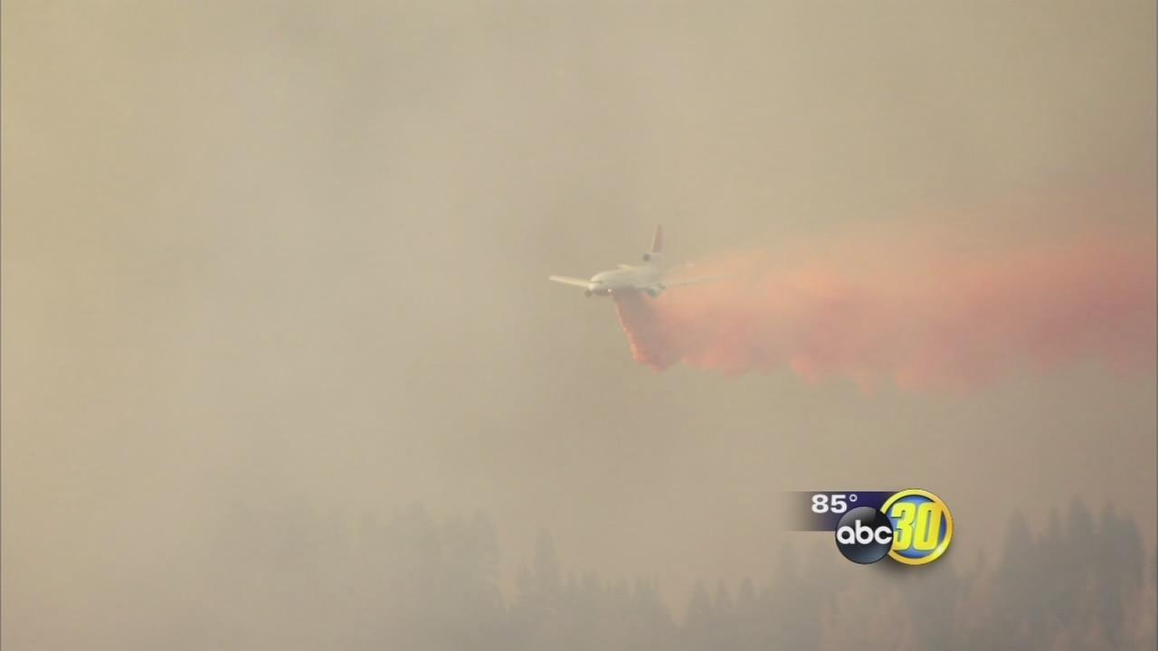 Willow Fire burns more than 1,500 acres near Bass Lake
