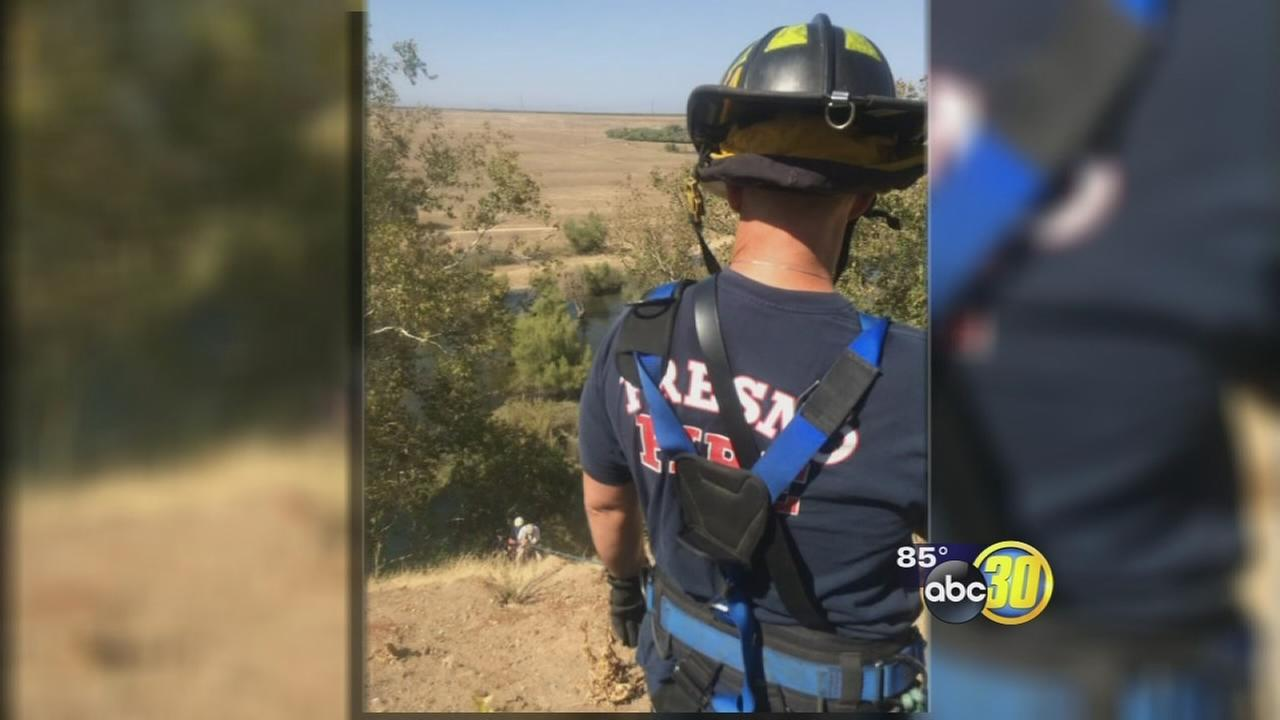 Man rescued after falling 300 feet down embankment in Northwest Fresno