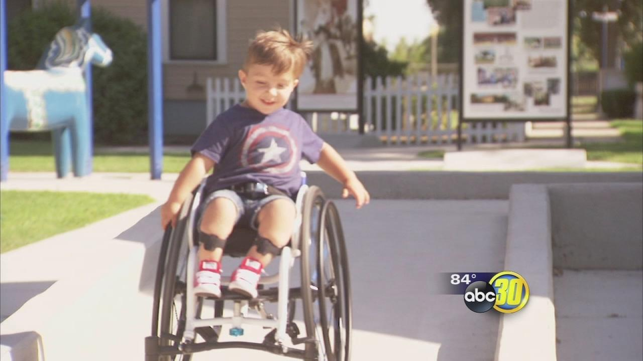 A Valley boy celebrated his 3rd birthday by giving back