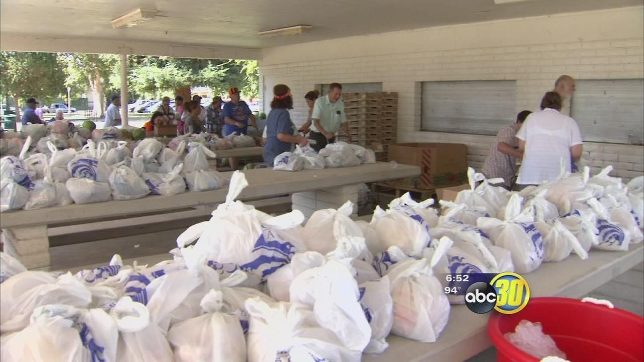 Sanger food distribution helps families impacted by drought