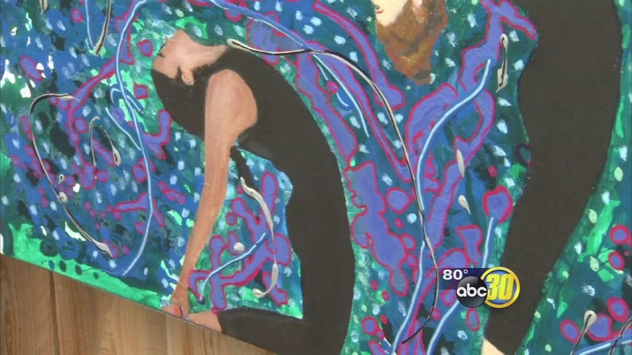 Fresno art exhibit pays tribute to cancer victim