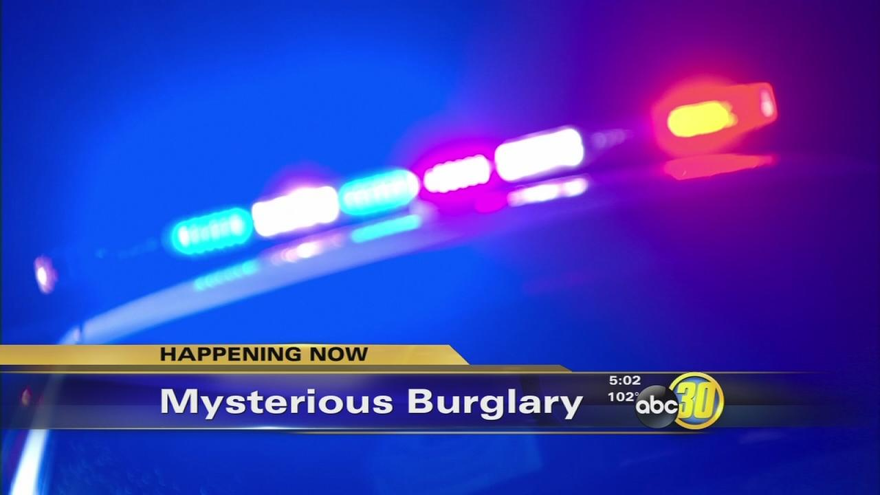 Fresno police sergeants office burglarized and several classified items were stolen