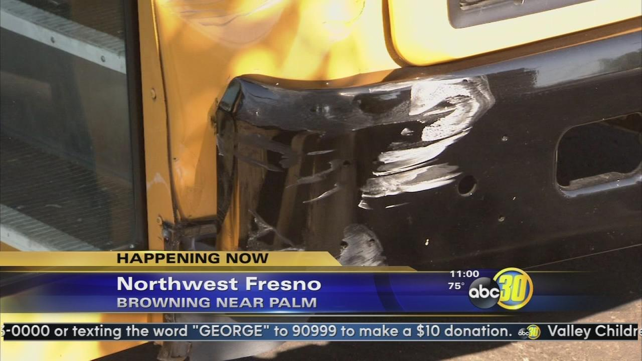 School bus involved in an accident in Fresno