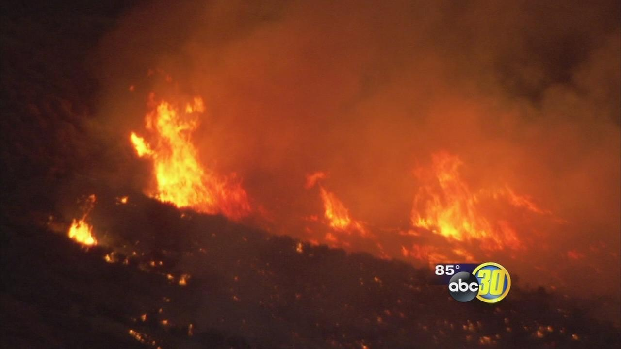 Hume Lake Christian Camp homes threatened by Rough Fire