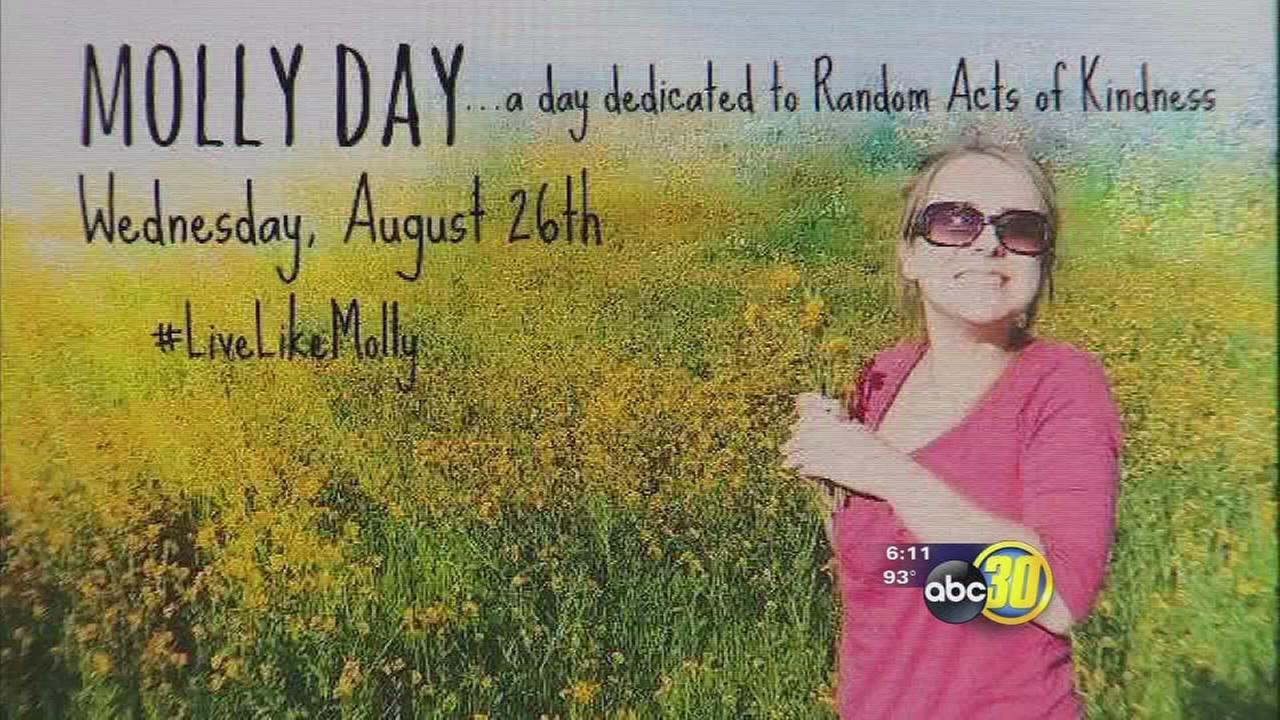 #LiveLikeMolly urges random acts of kindness
