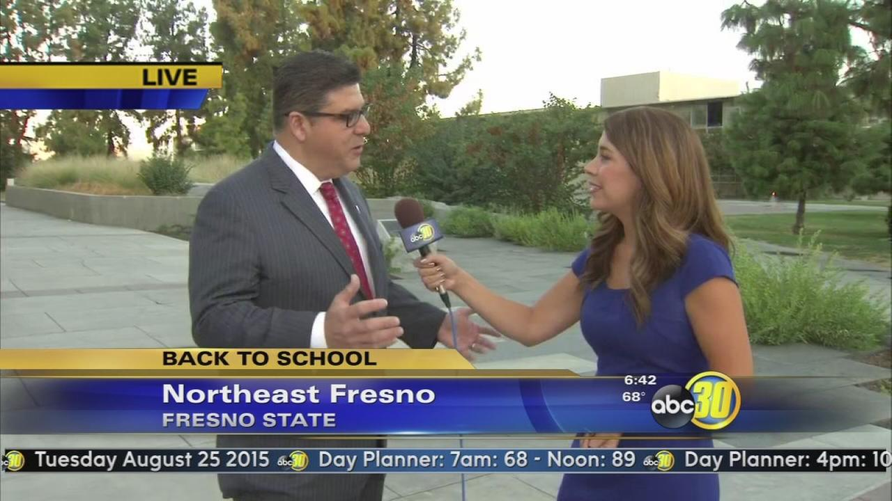 Fresno State students start Fall semester