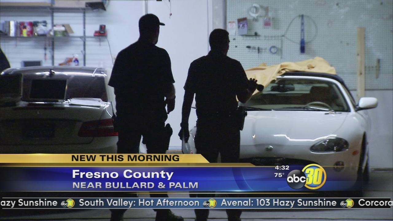 Several stolen luxury cars found in Fresno County garage