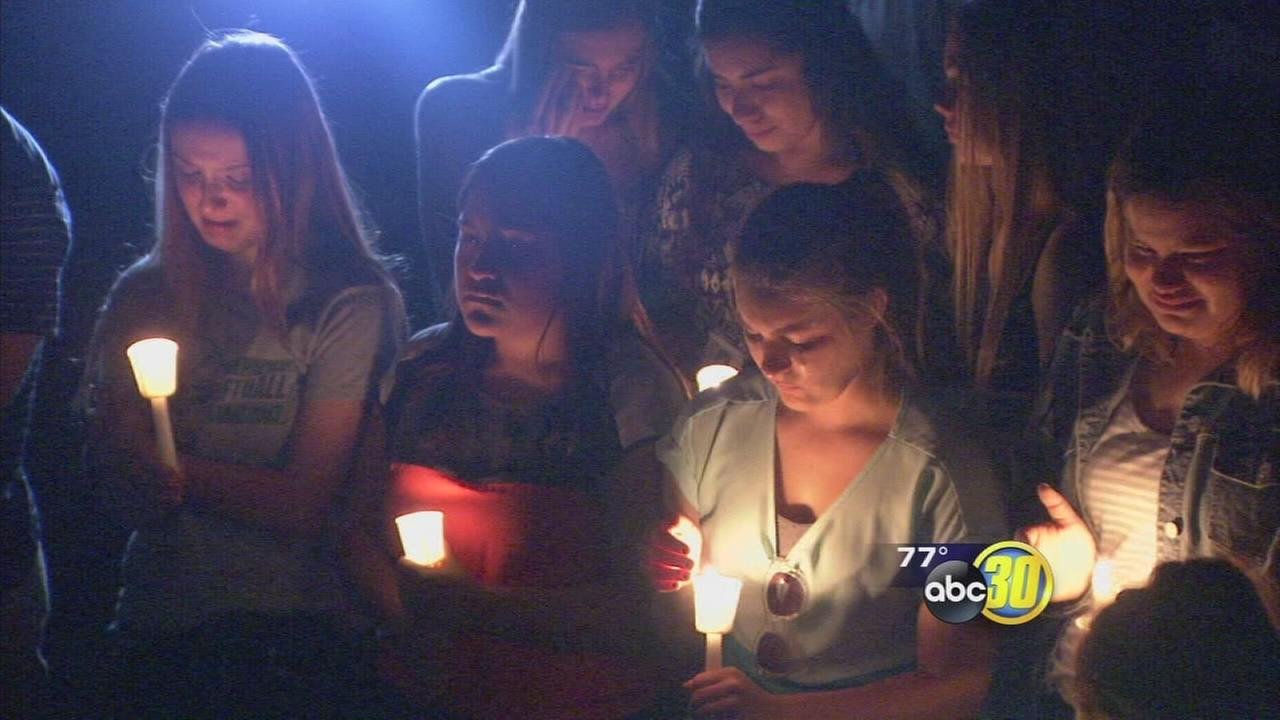 Vigil held for teen killed while riding bike in Hanford