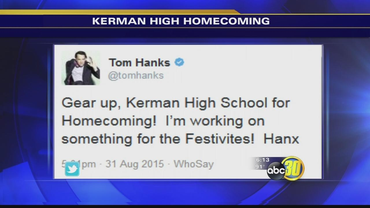 Tom Hanks tweets hes working on something for Kerman High School students
