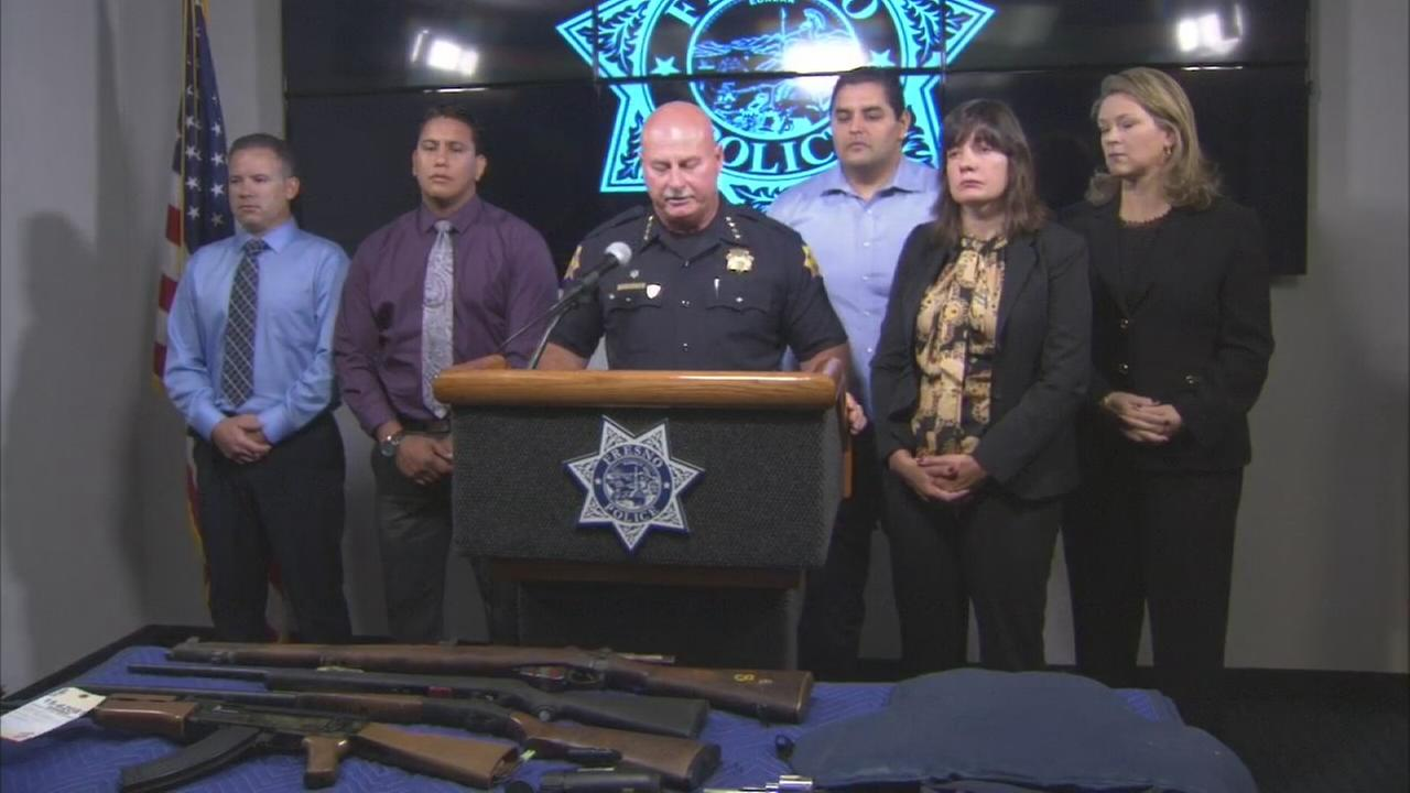 Fresno Police Chief Jerry Dyer holds a press conference on San Joaquin Memorial  High School threat