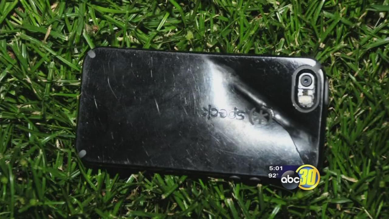iPhone screen shatters after being hit by bullet near Fresno State during armed robbery