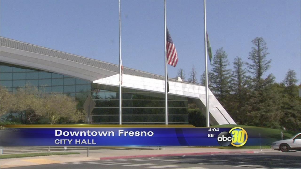 Flags flown at half-staff in honor of veteran Charlie Waters