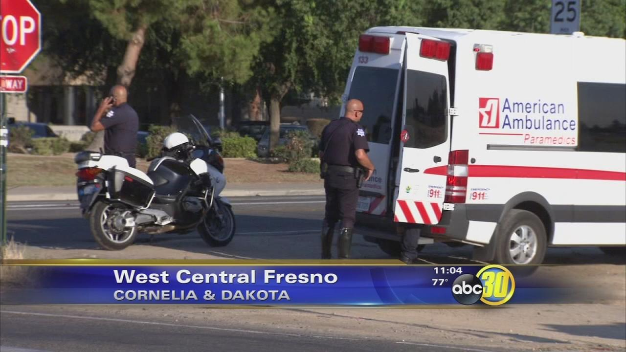 Woman hit by a car in West Central Fresno