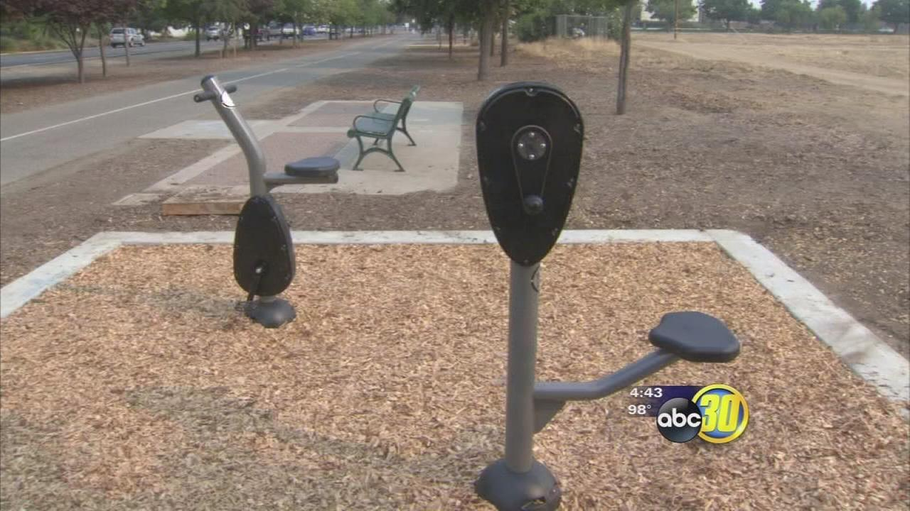 Clovis adds workout stations to Old Town trail