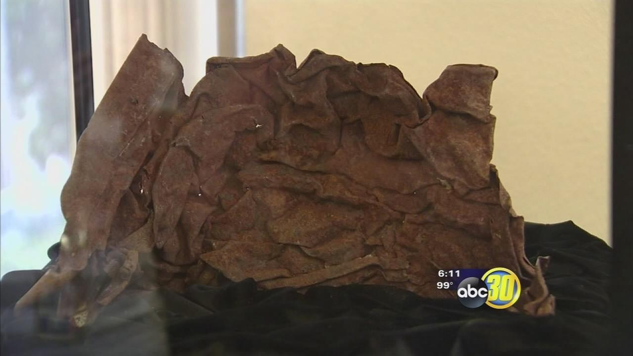 Piece of World Trade Center on display in Merced