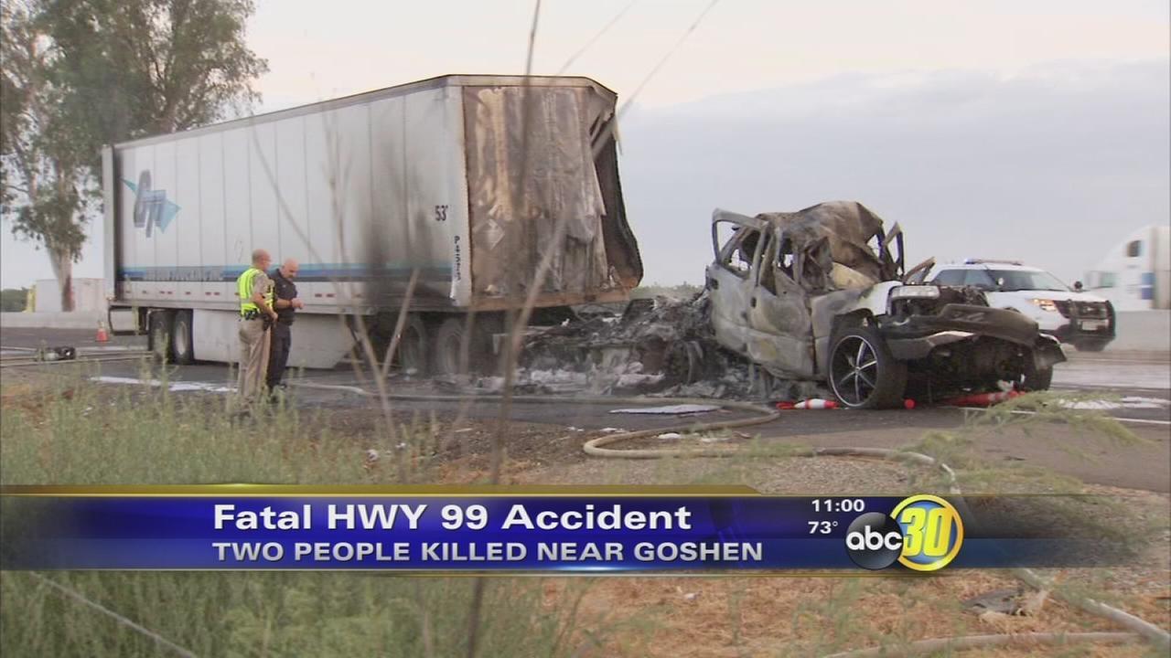 2 killed in fiery crash on HWY 99 in Goshen