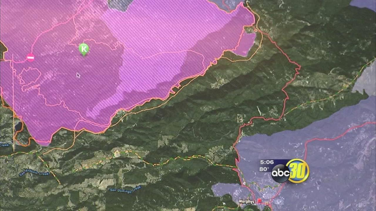 Butte Fire map created at U.C. Merced helps evacuees stay informed
