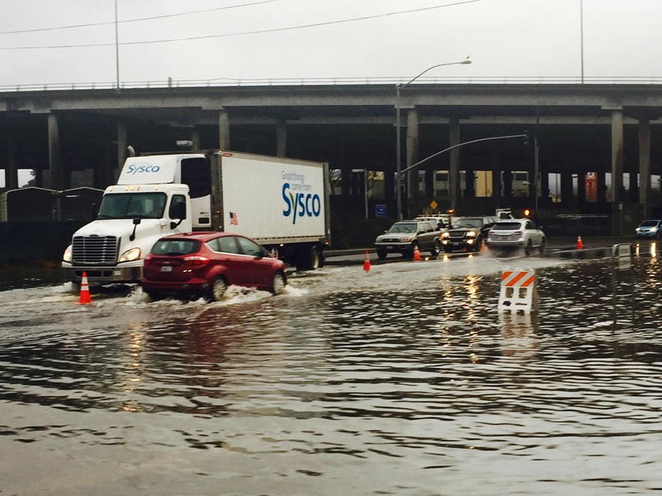 <div class='meta'><div class='origin-logo' data-origin='none'></div><span class='caption-text' data-credit='KGO-TV/Amy Hollyfield'>This photo shows flooding at the Manzanita Park and Ride lot in Mill Valley, Calif. on Tuesday, January 5, 2016.</span></div>