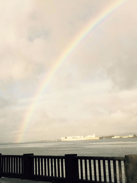 "<div class=""meta image-caption""><div class=""origin-logo origin-image none""><span>none</span></div><span class=""caption-text"">This photo shows a rainbow over the San Francisco waterfront on Tuesday, January 5, 2016. (KGO-TV/Cornell Barnard)</span></div>"