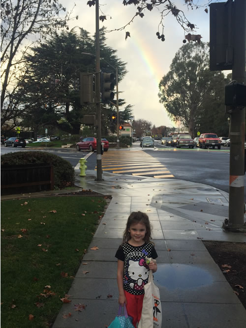 <div class='meta'><div class='origin-logo' data-origin='none'></div><span class='caption-text' data-credit='KGO-TV George Devine'>This photo shows a rainbow over Redwood City on Tuesday, January 5, 2016.</span></div>