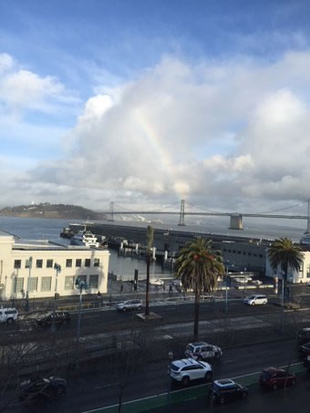 <div class='meta'><div class='origin-logo' data-origin='none'></div><span class='caption-text' data-credit='KGO-TV/Sandhya Patel'>This photo shows a rainbow over the San Francisco waterfront on Tuesday, January 5, 2016.</span></div>