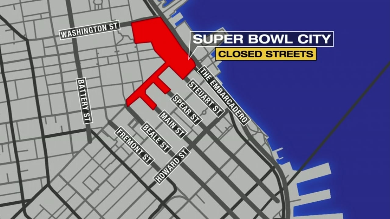 Super Bowl Events Will Impact San Francisco For Nearly Three Weeks - Super bowl ads lines on us map