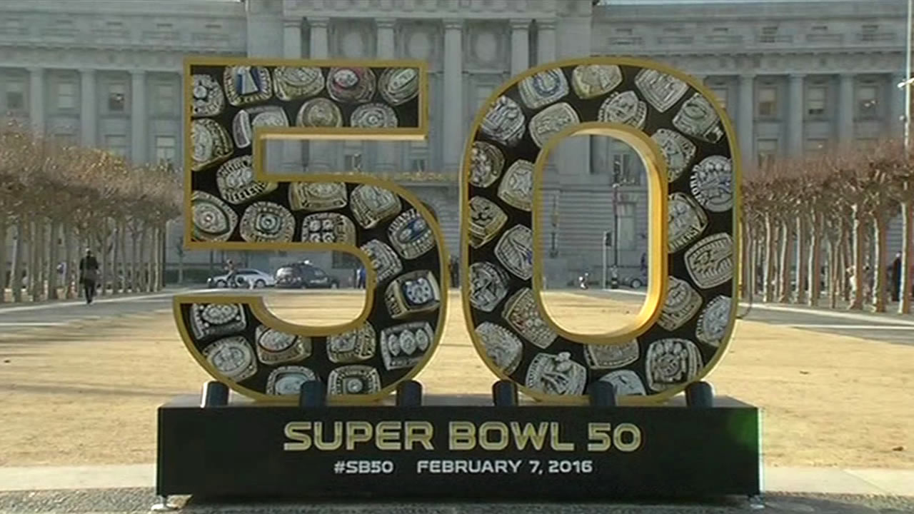 <div class='meta'><div class='origin-logo' data-origin='none'></div><span class='caption-text' data-credit='KGO-TV'>The Bay Area hosts Super Bowl 50!  In this photo taken Monday, Jan. 25, 2016, is the scene at Civic Center in San Francisco.</span></div>