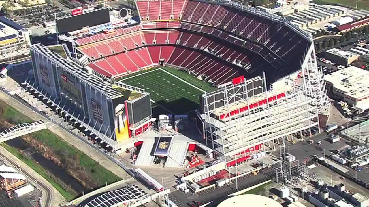 <div class='meta'><div class='origin-logo' data-origin='none'></div><span class='caption-text' data-credit='KGO-TV'>Construction underway at Levi's Stadium in Santa Clara on Tuesday, Jan. 26, 2016 as the Bay Area hosts Super Bowl 50.</span></div>