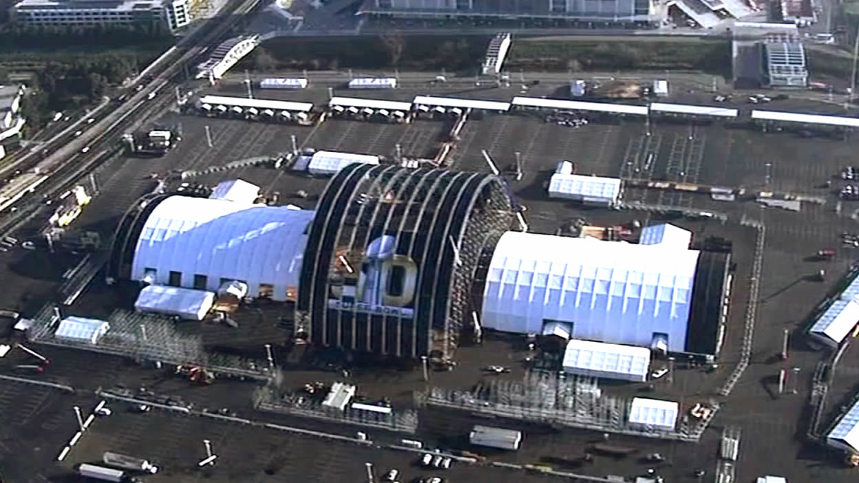 <div class='meta'><div class='origin-logo' data-origin='none'></div><span class='caption-text' data-credit='KGO-TV'>Construction underway in Santa Clara on Tuesday, Jan. 26, 2016 as the Bay Area hosts Super Bowl 50.</span></div>