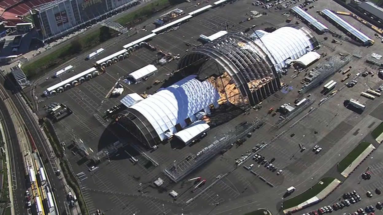 <div class='meta'><div class='origin-logo' data-origin='none'></div><span class='caption-text' data-credit='KGO-TV'>The Bay Area is buzzing as Super Bowl 50 construction is underway at Santa Clara on Tuesday, Jan. 26, 2016.</span></div>
