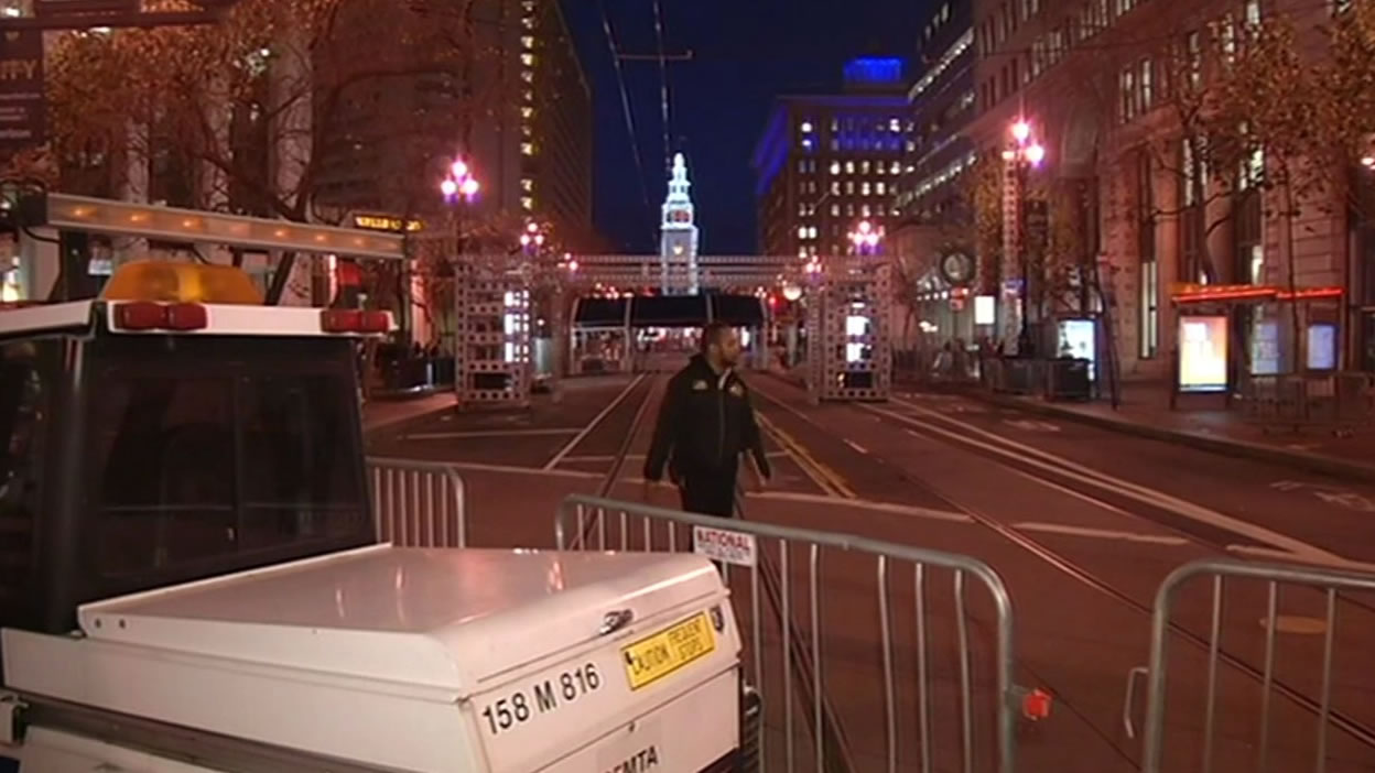 <div class='meta'><div class='origin-logo' data-origin='none'></div><span class='caption-text' data-credit='KGO-TV'>The Bay Area hosts Super Bowl 50!  San Francisco is buzzing as construction is underway at Super Bowl City on Monday, Jan. 25, 2016.</span></div>