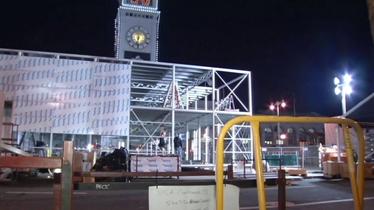 <div class='meta'><div class='origin-logo' data-origin='none'></div><span class='caption-text' data-credit='KGO-TV'>The Bay Area is buzzing as Super Bowl City construction is underway in San Francisco on Monday Jan. 25, 2016.</span></div>