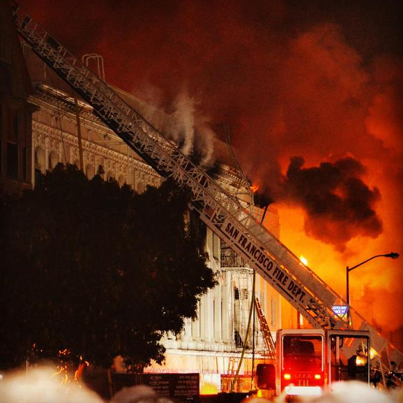 <div class='meta'><div class='origin-logo' data-origin='none'></div><span class='caption-text' data-credit=''>A fire burns in the Mission District neighborhood of San Francisco, Calif. on Jan. 28, 2015. (Photos by Cristiano Valli, courtesy Mission Local)</span></div>