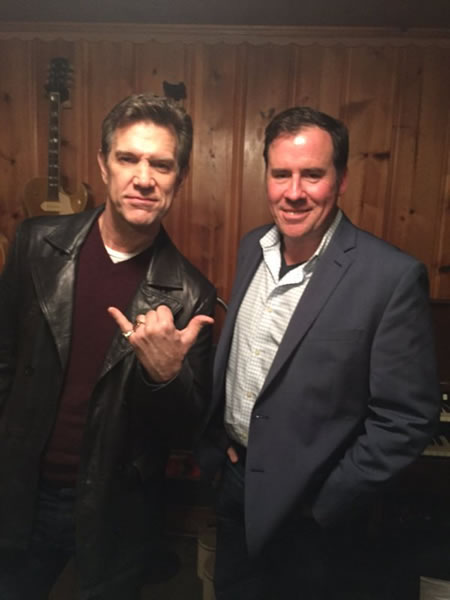 <div class='meta'><div class='origin-logo' data-origin='none'></div><span class='caption-text' data-credit=''>ABC7 News reporter Cornell Barnard poses with San Francisco musician Chris Isaak, who is set to perform Saturday Jan. 30, 2016 at Super Bowl City.</span></div>