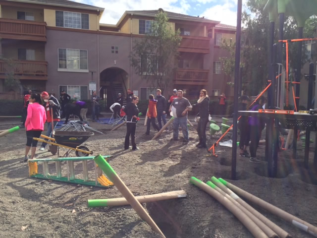"<div class=""meta image-caption""><div class=""origin-logo origin-image none""><span>none</span></div><span class=""caption-text"">Volunteers in action at KaBoom playground build in San Jose, Calif. on Tuesday, February 2, 2016. (KGO-TV)</span></div>"