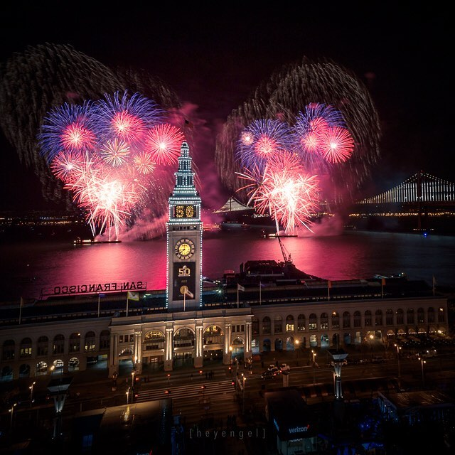 <div class='meta'><div class='origin-logo' data-origin='none'></div><span class='caption-text' data-credit='Photo sent to KGO-TV by heyengel/Instagram'>Super Bowl 50 kicks off with fireworks over the bay on Saturday, Jan. 30, 2016.</span></div>