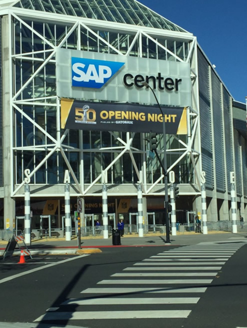 <div class='meta'><div class='origin-logo' data-origin='none'></div><span class='caption-text' data-credit='KGO-TV/Matt Keller'>Opening Night for Super Bowl 50 at SAP Center in San Jose gives fans and media an opportunity to be with the Super Bowl players on Monday, Feb. 1, 2016.</span></div>
