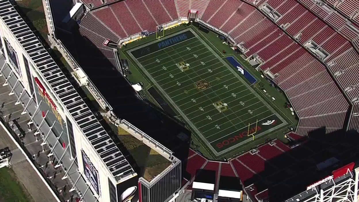 <div class='meta'><div class='origin-logo' data-origin='none'></div><span class='caption-text' data-credit='KGO-TV'>On Tuesday, Feb. 2, 2016 the turf is all set for Super Bowl 50 game day.</span></div>