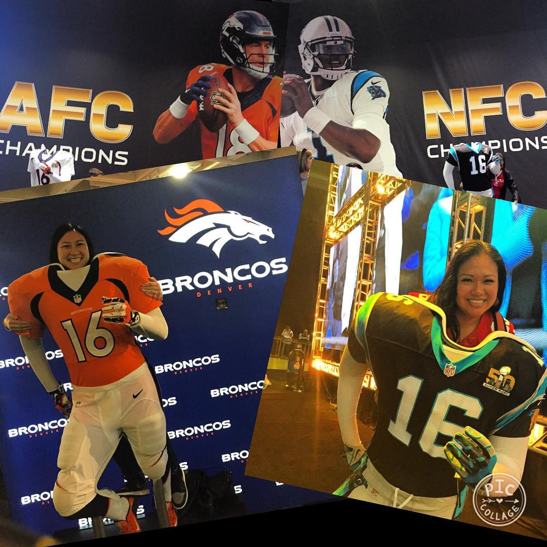 <div class='meta'><div class='origin-logo' data-origin='none'></div><span class='caption-text' data-credit='Photo submitted to KGO-TV by foxymama1/Instagram'>Football fans across the Bay Area show their football spirit on Super Bowl Sunday, February 7, 2016. Tag your Super Bowl 50 photos with #abc7now.</span></div>