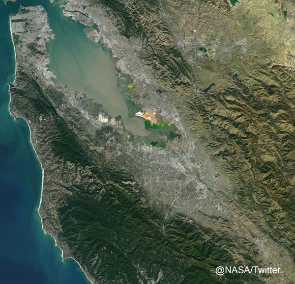 <div class='meta'><div class='origin-logo' data-origin='none'></div><span class='caption-text' data-credit='NASA/Twitter'>A NASA satellite captured this image above the Bay Area on Sunday, February 7, 2016.</span></div>