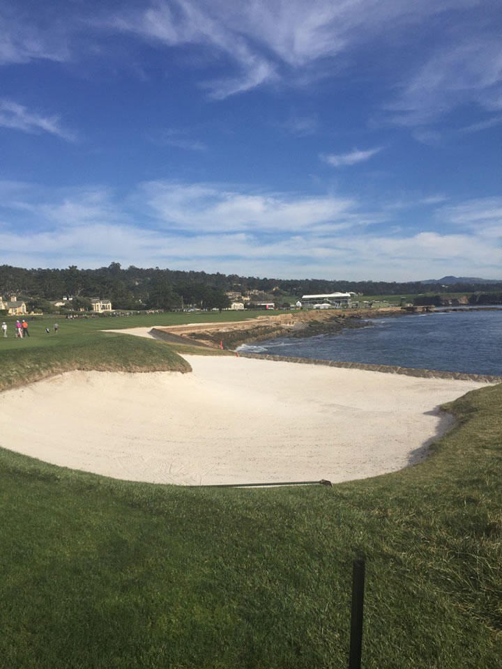<div class='meta'><div class='origin-logo' data-origin='none'></div><span class='caption-text' data-credit='KGO-TV/Mike Shumann'>Here's a look at the 18th hole during the AT&T Pebble Beach Pro-Am in Pebble Beach, Calif. on Tuesday, February 9, 2016.</span></div>