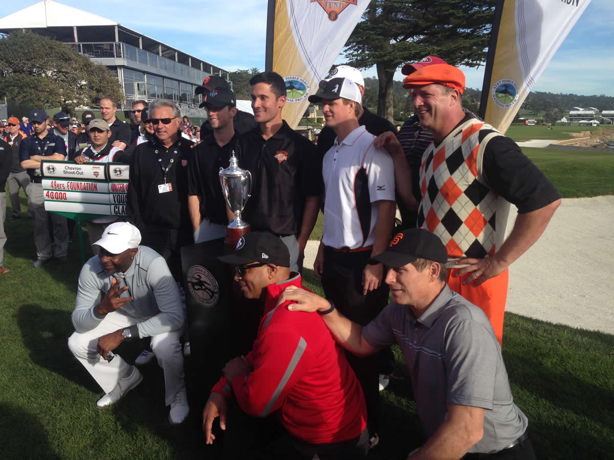 "<div class=""meta image-caption""><div class=""origin-logo origin-image none""><span>none</span></div><span class=""caption-text"">A group of current and former Giants and 49ers compete in the Chevron shootout at AT&T Pebble Beach National Pro-Am on Tuesday, Feb. 10, 2015. (ABC7 News/Abe Mendoza)</span></div>"