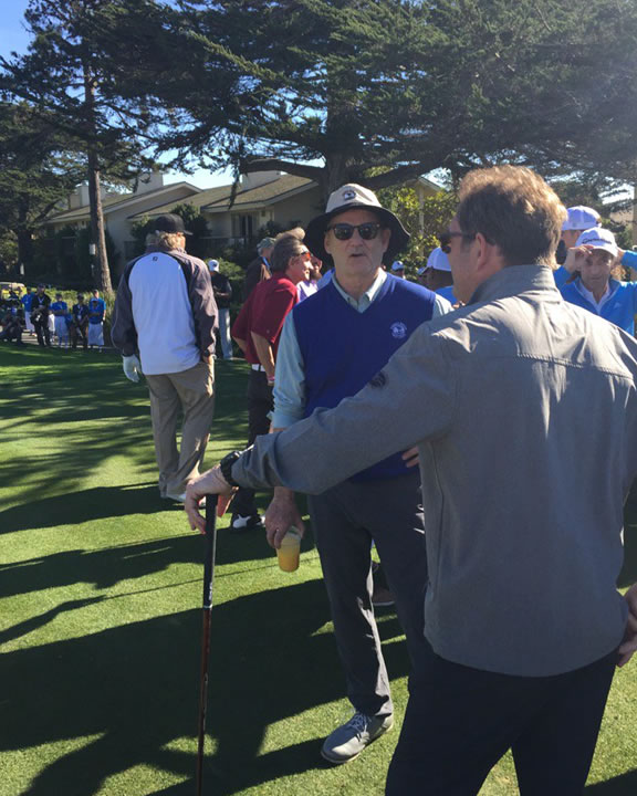 <div class='meta'><div class='origin-logo' data-origin='none'></div><span class='caption-text' data-credit='KGO-TV/Mike Shumann'>Actor-comedian Bill Murray talks to musician Huey Lewis at the 3M Celebrity Challenge at the AT&T Pebble Beach Pro-Am on Wednesday, February 10, 2016.</span></div>