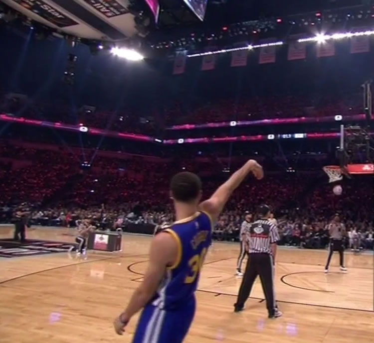 """<div class=""""meta image-caption""""><div class=""""origin-logo origin-image kgo""""><span>KGO</span></div><span class=""""caption-text"""">Stephen Curry making his shots in the 3-point contest during the NBA All-Star weekend, Saturday, Feb. 14, 2015.</span></div>"""