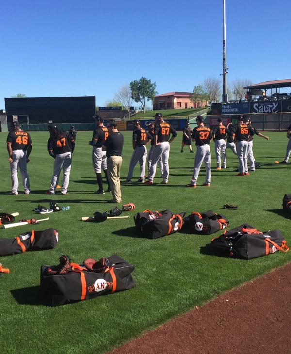 "<div class=""meta image-caption""><div class=""origin-logo origin-image none""><span>none</span></div><span class=""caption-text"">The San Francisco Giants practice during Spring training in Arizona on February 23, 2016. (Photo submitted to KGO-TV by @MikeShumann/Twitter)</span></div>"