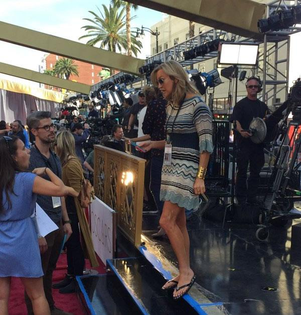 """<div class=""""meta image-caption""""><div class=""""origin-logo origin-image none""""><span>none</span></div><span class=""""caption-text"""">Good Morning America anchor Lara Spencer at rehearsals at the Dolby Theater in Los Angeles on Saturday, February 27, 2016. (KGO-TV)</span></div>"""