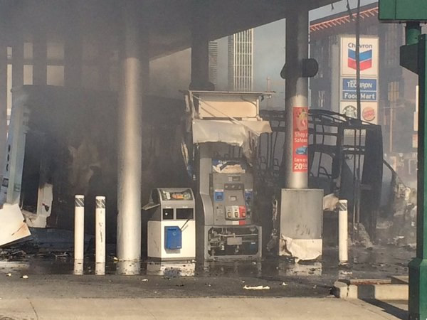 """<div class=""""meta image-caption""""><div class=""""origin-logo origin-image none""""><span>none</span></div><span class=""""caption-text"""">A bus caught fire at a gas station in San Francisco on Monday, February 29, 2016. (@sffdpio/Twitter)</span></div>"""