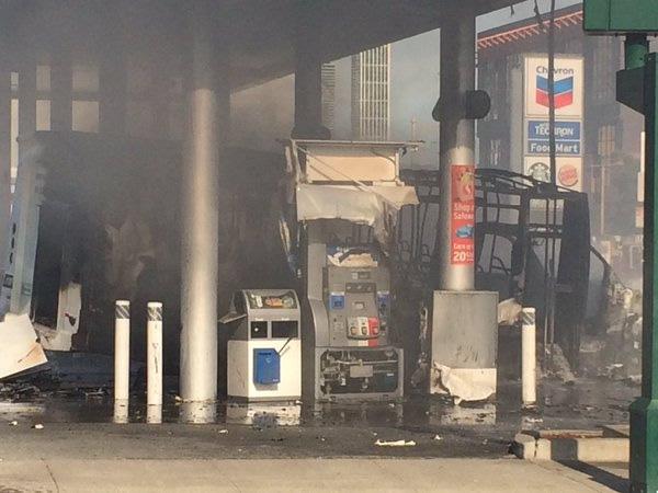 <div class='meta'><div class='origin-logo' data-origin='none'></div><span class='caption-text' data-credit='@sffdpio/Twitter'>A bus caught fire at a gas station in San Francisco on Monday, February 29, 2016.</span></div>