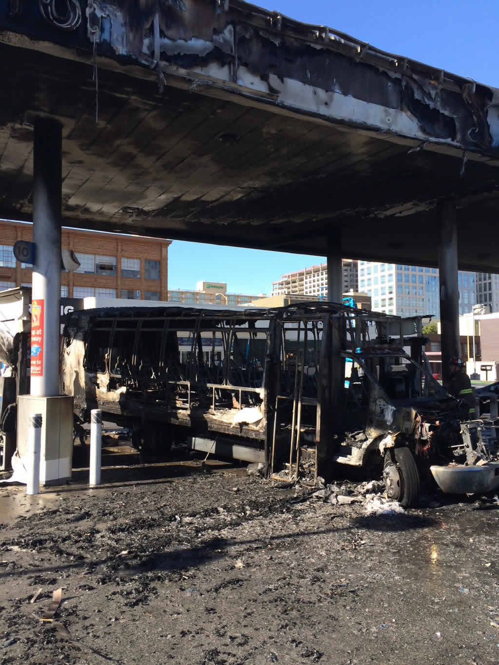 """<div class=""""meta image-caption""""><div class=""""origin-logo origin-image none""""><span>none</span></div><span class=""""caption-text"""">A bus that caught fire at a gas station in San Francisco on Monday, February 29, 2016. (@sffdpio/Twitter)</span></div>"""