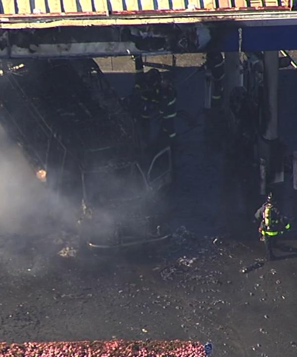 """<div class=""""meta image-caption""""><div class=""""origin-logo origin-image none""""><span>none</span></div><span class=""""caption-text"""">A bus caught fire at a gas station in San Francisco on Monday, February 29, 2016. (KGO-TV)</span></div>"""